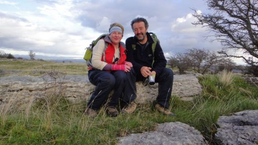Us two now. Up on Hampsfell, South Cumbria.