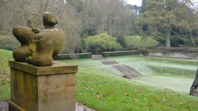 The Tiltyard. A sunken garden. Oh and a little Henry Moore statue, which was designed for the space it occupies.