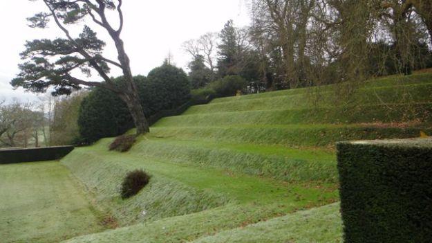 A closer look at the grassy banks of the Tiltyard.
