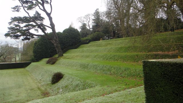 A closer look at the grassy banks of the Tiltyard.
