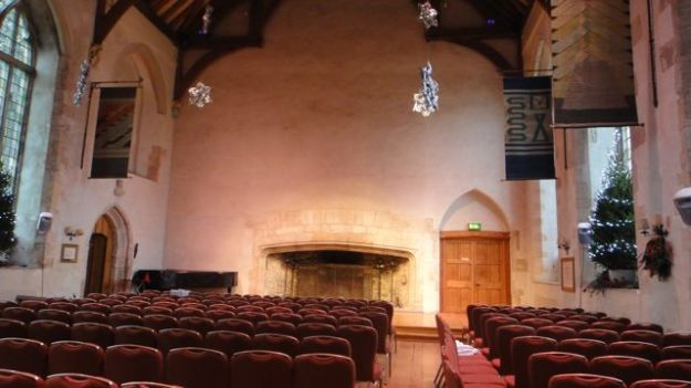 Quick look inside the Great Hall - which is 38ft by 69ft, the fireplace (at the far end) is 17ft.
