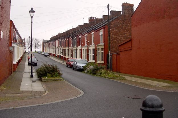 After street of terraced housing. currently these are amongst the most affordable streets in Liverpool to buy your first house. So we need more don't we?