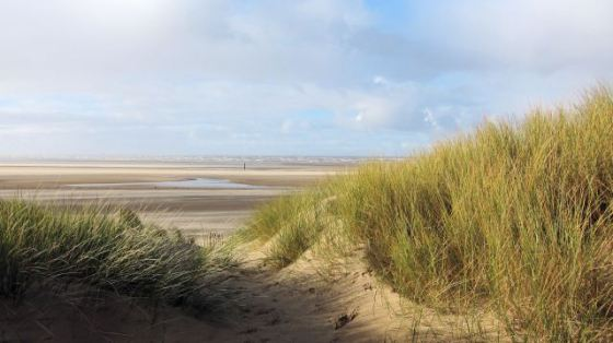 Out to Formby Point. Photo by Gerry Corton.