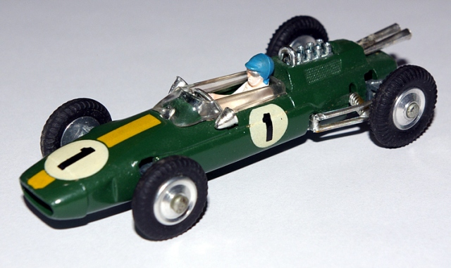 Jim Clark in the Corgi Lotus 25.