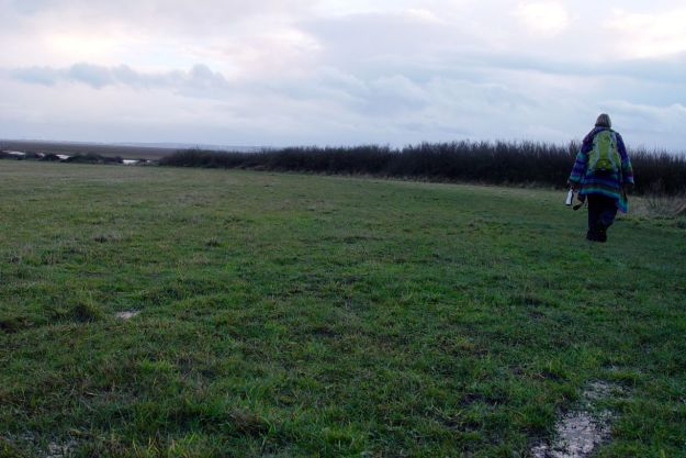 Crossing boggy, sodden Heswall Fields today.