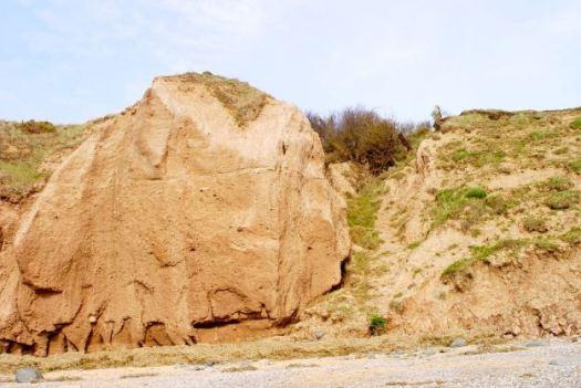 Last April, a dry cliff.