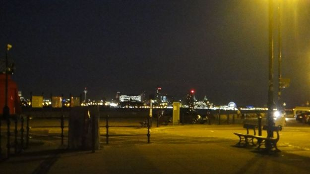 Looking across the Mersey to Liverpool.