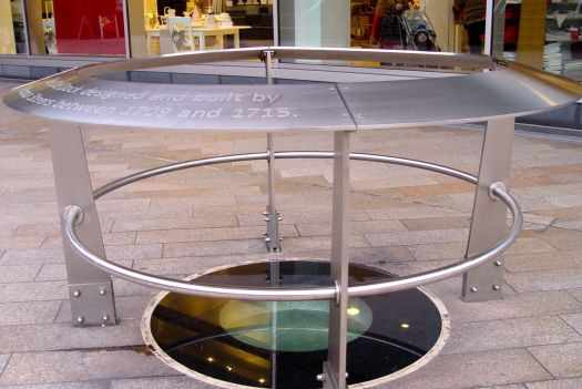 In Liverpool One, the shopping centre, there's this viewing hole, where you can look down at a bit of the wall from the original Liverpool Dock, constructed between 1709 and 1715.