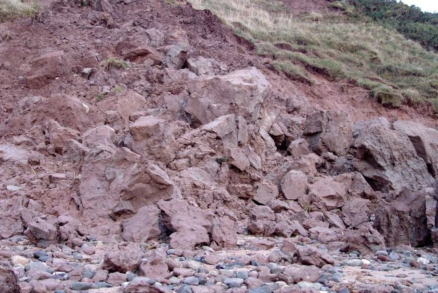 A pile of cliff.