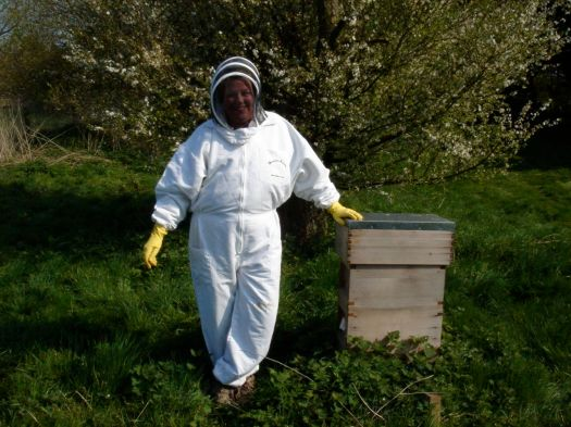 And of course getting pictures taken of ourselves in the novel bee suit outfit!