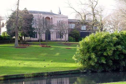 And round the lake to Greenbank House.