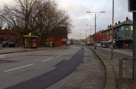 Crossing Smithdown, all still quiet.