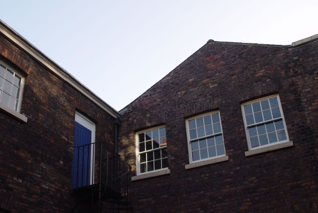 A chance for a look at the rarely seen inner courtyard at the Bluecoat.