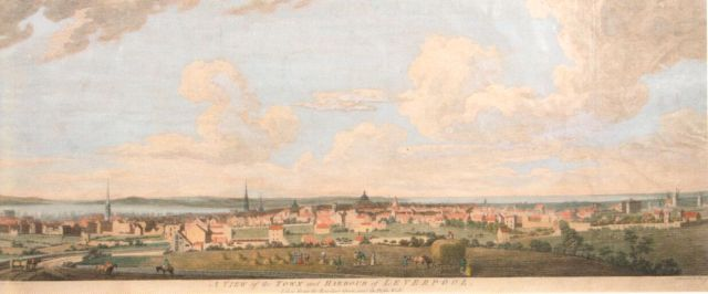 The view then, Liverpool from where the Anglican Cathedral stands now.
