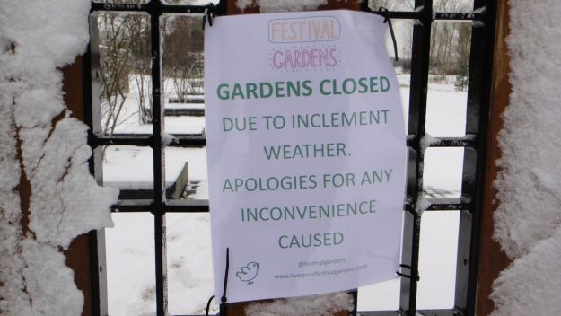 Pathetic. Closing a park because it's snowed?