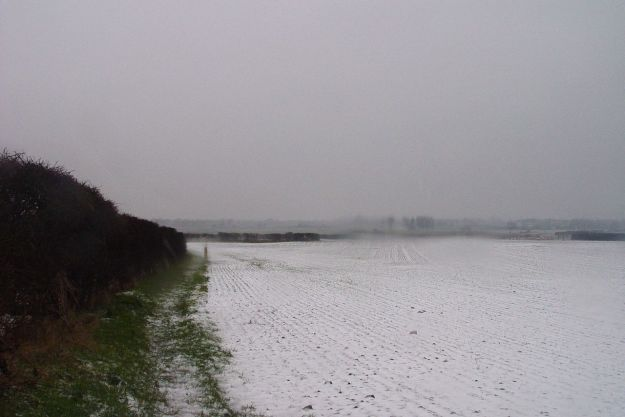 The white landscape of North Wirral.