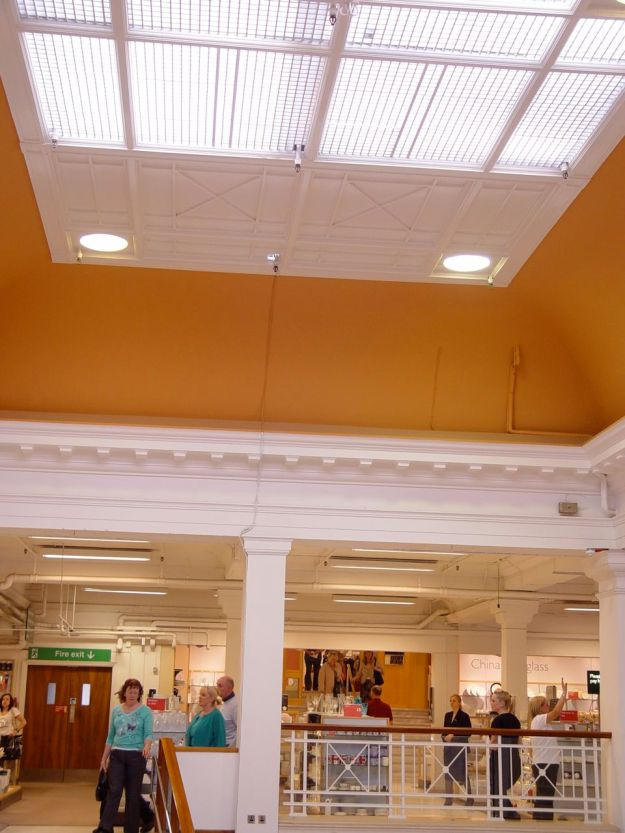 The lovely mezzanine ceiling.