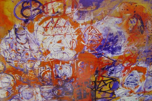 A print by the lost Beatle, Stuart Sutcliffe.