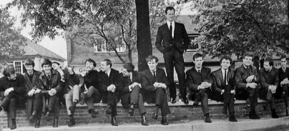 Brian Epstein with his Liverpool bands. Golden days.