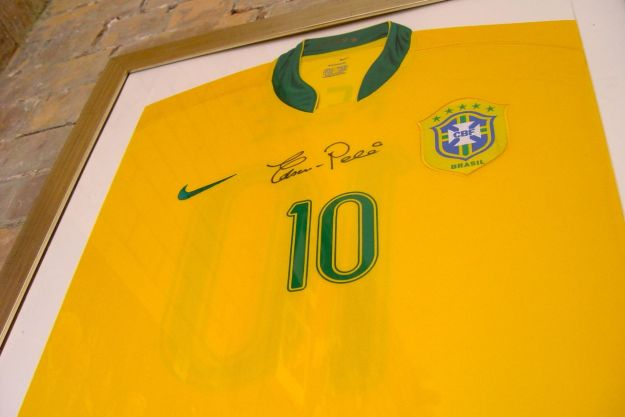 And Pelé's shirt. From the time Florence Albion took on and beat the mighty Brazilian World Cup winning team of 1958. Only joking.