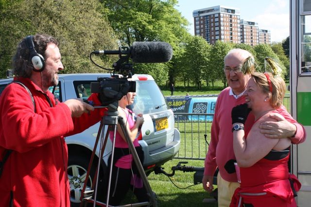 Interviewed by Radio Merseyside, filmed by me.