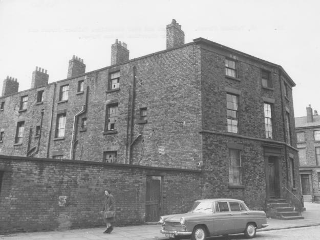 Part of Falkner Street in 1965. Gone now.