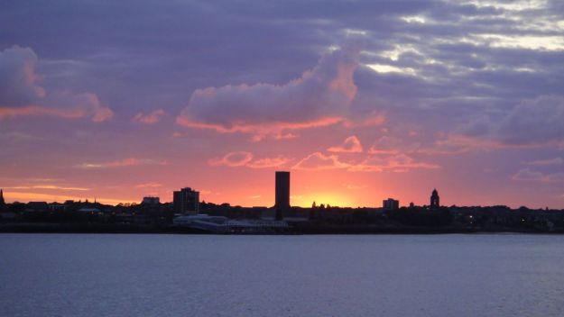 Sunset on the River Mersey.