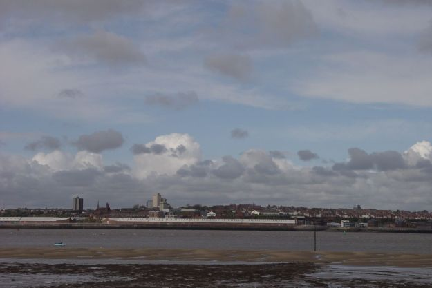 The River Mersey at New Ferry.