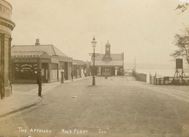 The Refreshment Rooms visible on the right of this old postcard.