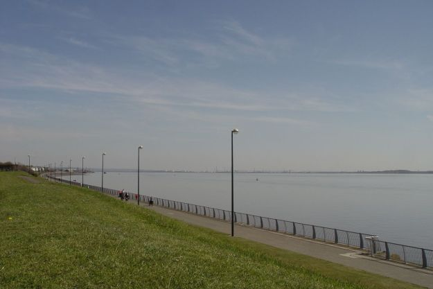 To Otterspool Prom, or Liverpool Beach as I call it.