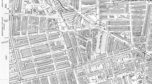 Ghost streets. The 1905 O.S. map shows Upper Canning and Upper Huskisson Streets. And Falkner Streets running up to Smithdown Lane.