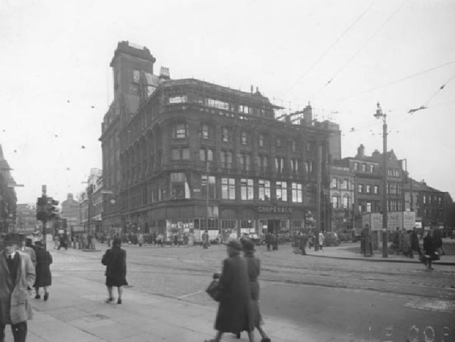 Same building in 1947 when it was Cooper's, still bomb damaged. Picture from Liverpool Museums.
