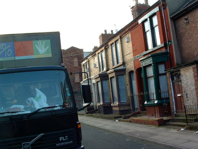 Moving the people out of Mulliner Street, 2003.