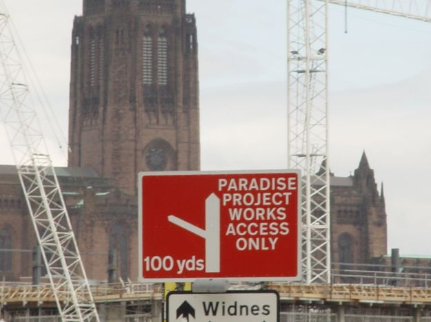 Before the 'Paradise Project' began building 'Liverpool One' in 2005.