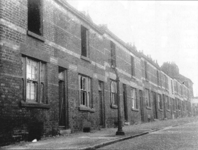 Canal Street, by Miller's Bridge in Bootle, early 1960s.