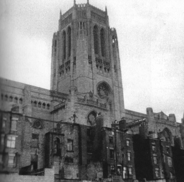The Cathedral, when it had houses in front of it.