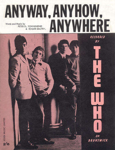 The Who, challenging The Beatles. Sheet music for 2/6d.