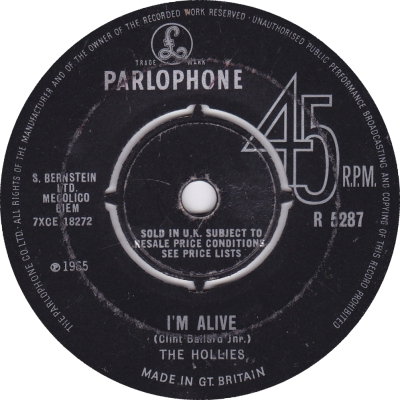 The Hollies, at 7 and rising.