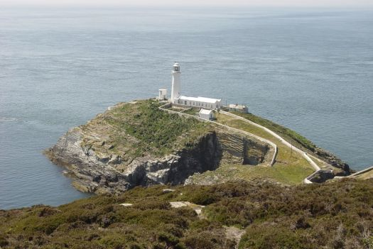 The South Stack Lighthouse.