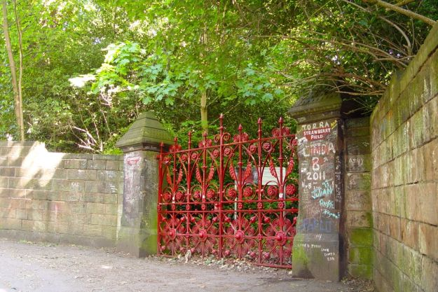 Past the gates of Strawberry Field.