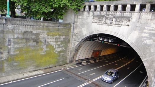 Above the 'old' Mersey tunnel.