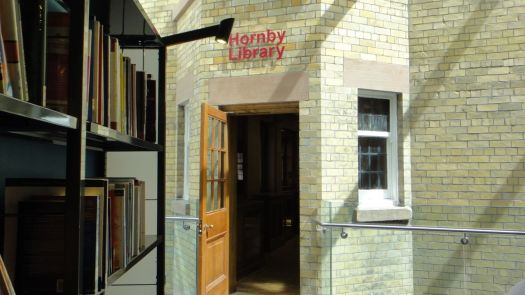 The Hornby Library entrance.