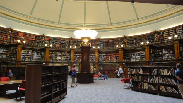 The reading room.