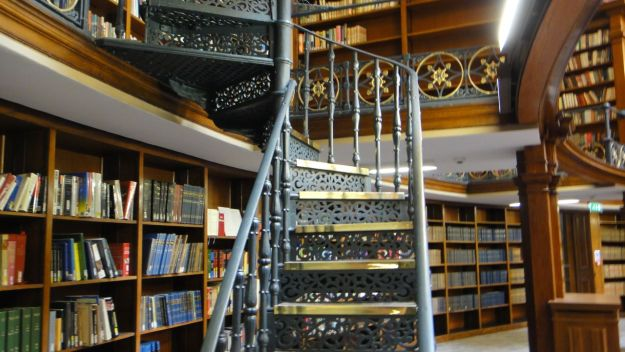 Delightful spiral staircase.