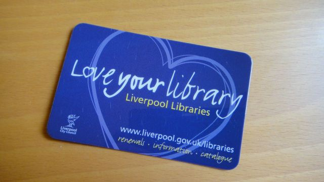 My new library ticket.