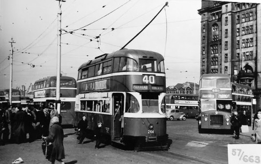 Liverpool 1957, what a civilised place.