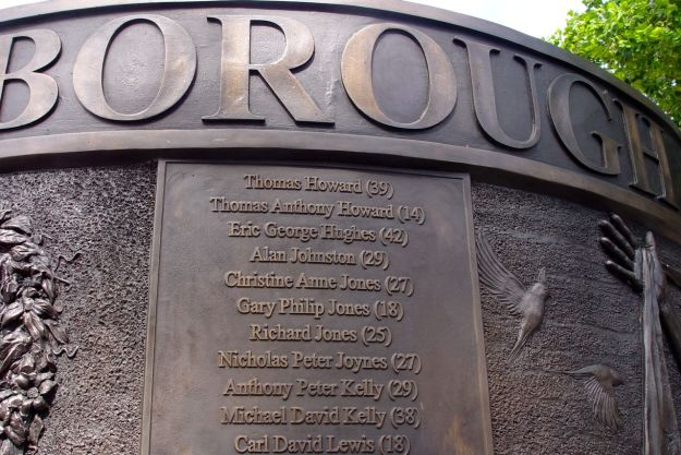 The names of the 96 dead.