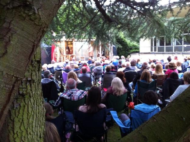 Over two evenings 500 people came to see the play.