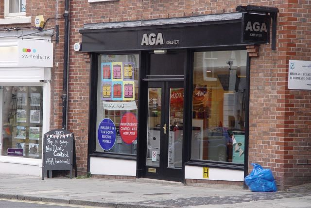After all not too many high streets have their own 'Aga' shops.