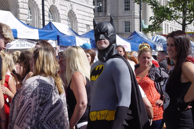 Still it's not every day you meet Batman in the queue for the toilets.